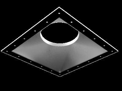 Overgang fra rektangulær til sirkulær