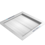 Kvadratisk ventil til ventilasjonsanlegg